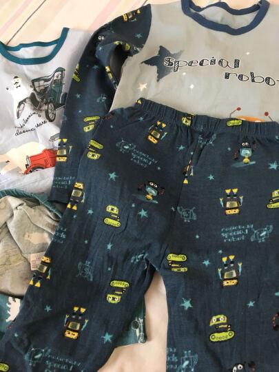 麦奇可儿 儿童内衣套装纯棉男童秋衣秋裤女童睡衣儿童内衣 天蓝纯色 90 晒单图