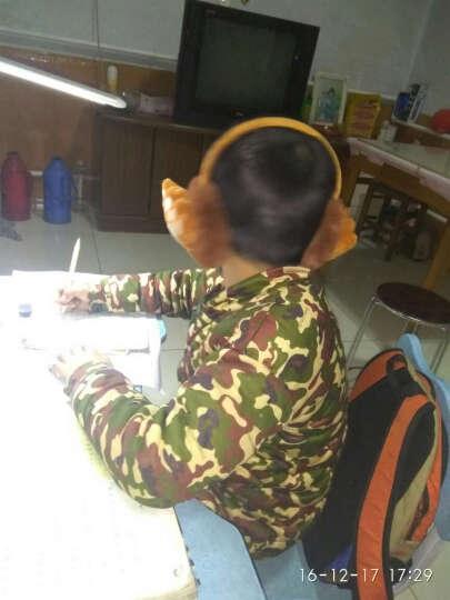 保暖时尚毛绒可爱儿童护耳套男耳捂女耳耳包暖冬成人调节卡通耳罩 小猪灰色 晒单图
