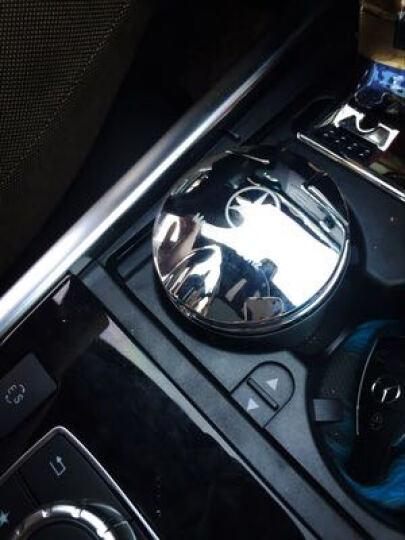 尼克莱  奔驰c级E级glk级GLC车载烟灰缸 车用带LED灯带盖通用烟灰缸 奔驰标烟灰缸 银盖黑钢款 奔驰GKL 200 260 300 晒单图