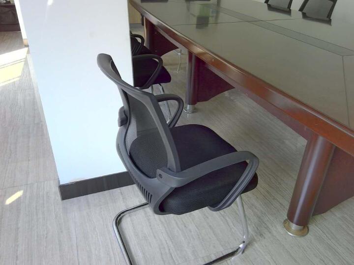 欧奥森(ouaosen) 欧奥森 电脑椅 办公椅弓形电脑椅子职员网椅转椅会议椅弓形椅子 S103-11-黑橙弓形椅 晒单图