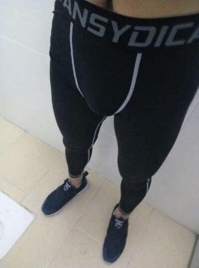 范斯蒂克 紧身裤男运动篮球弹力速干透气吸湿排汗打底裤跑步训练裤 MBF003 黑色拼灰线 M 晒单图