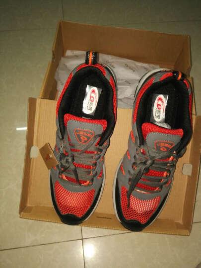 金帅威 徒步鞋 透气男鞋 登山鞋新款耐磨户外鞋 男士越野跑鞋 中灰桔 44 晒单图
