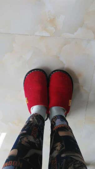 清仓9.9包邮棉拖鞋特价冬季家居情侣保暖拖鞋 男女款居家包跟拖鞋E7503 玫红色 260建议37-38码脚穿 晒单图