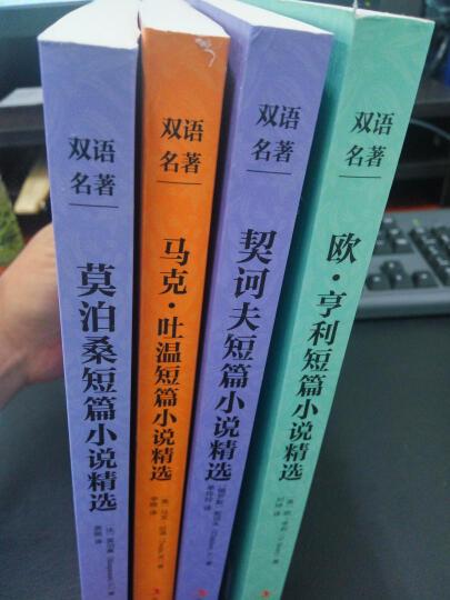4本 欧亨利/契诃夫短篇小说集/马克吐温莫泊桑中短篇小说选 中文+英文 英汉双语 晒单图