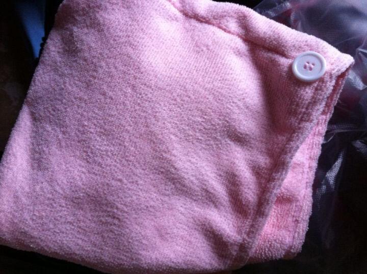 洁丽雅Grace  快速吸水干发帽 加长 加厚型 神奇干发毛巾 更吸水 2条装 紫色2条装 干发帽 晒单图