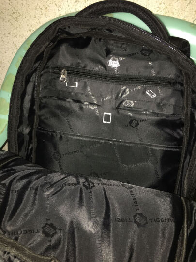 TIGERNU双肩包男女士电脑包升级版15.6英寸笔记本书包背包 咖啡色 17 晒单图