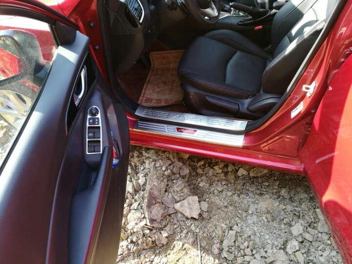 纳斯顿 2017款昂克赛拉门槛条专用于马自达3不锈钢昂克赛拉改装迎宾踏板 外置(不锈钢红标款) 晒单图
