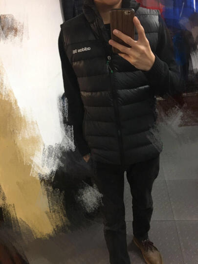 Adidas阿迪达斯羽绒马甲 男运动羽绒背心 2017新款BC7112 M 晒单图