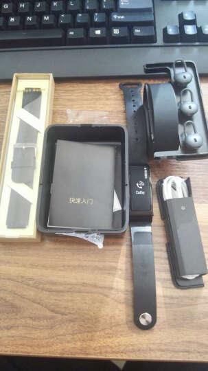 华为(HUAWEI)华为手环B3  (蓝牙耳机与智能手环结合+金属机身+触控屏幕+TPU腕带) 运动版 韵律黑 晒单图