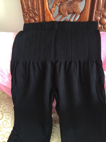 戈登路秋衣秋裤女士单件莫代尔薄款高腰塑身美体裤加大码提臀修身打底裤紧身保暖棉毛裤衬裤 深灰色 1.9尺-2.6尺 晒单图