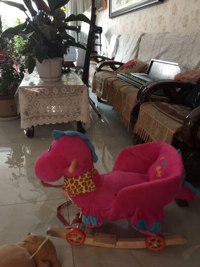 多款卡通音乐动物摇摇马 木马  玩具 1-3 长颈鹿大号 新款实木带踏板 晒单图