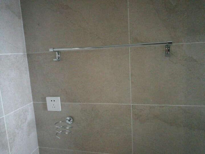 鹏冉 不锈钢浴室挂件浴巾架毛巾架卫浴套装卫生间 加厚款七件套加长纸巾盒B 晒单图