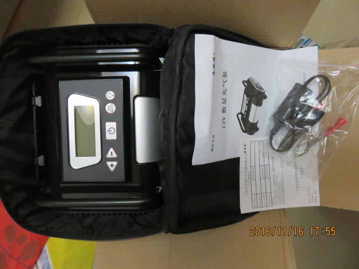 嘉西德0390 智能预设胎压车载充气泵 12V便携式汽车用轮胎打气泵 晒单图