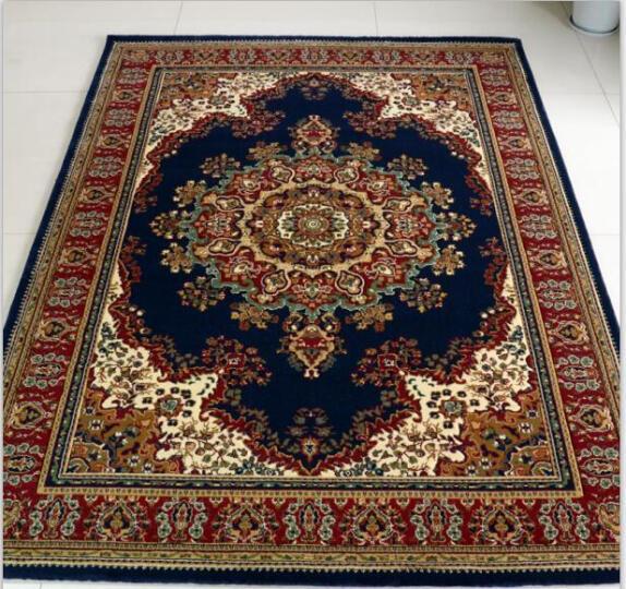 波斯风地毯欧式客厅卧室床边茶几地毯加厚满