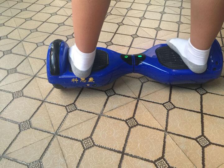 科思康儿童平衡车 双轮智能体感车 两轮电动漂移思维扭扭车 风火轮滑行自平衡电动车 活动奖品 蓝牙款(蓝) 晒单图