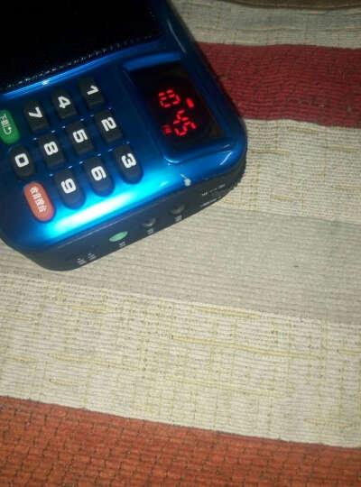 先科 收音机MP3插卡音箱便携式迷你音乐播放器外放老人小音响低音炮广场舞老年随身听 宝石蓝+4G卡+送1468首歌曲+点歌本 标配+4G卡(带下载目录) 晒单图