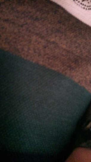 梵克雷敦 2017冬季保暖百搭男士圆领加绒加厚毛衣休闲韩版男装线衫条纹针织衫宽松大码上衣潮 红色 165 晒单图