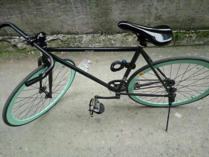 (支持货到付款)复古死飞死飞自行车男 死飞自行车死飞自行车女700c 黑湖水绿色 晒单图