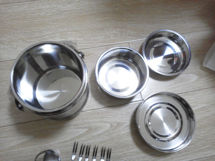 美厨(MAXCOOK)不锈钢双层保温饭盒提锅 1.4L雅厨系列MCB-1.4L 晒单图