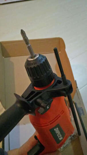 芝浦 家用工业级多功能电钻手枪钻 大功率两用手电钻 电锤套装家用微型冲击钻 自锁夹头- 电钻+钻头简易套装 晒单图