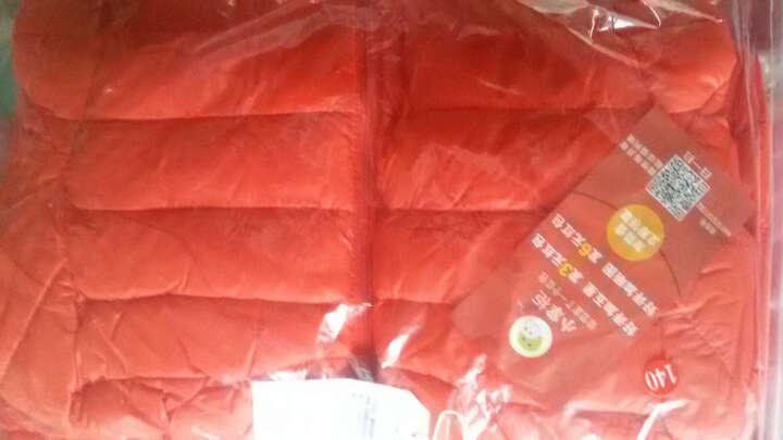 咔哇岛(kavaland) 咔哇岛童装儿童羽绒服男童女童轻薄羽绒服短款连帽女童冬装外套 大红色 130 晒单图