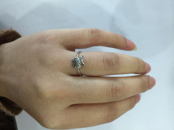 雅宝福 Pt950铂金戒指白金戒指金苹果戒指 约2.40-2.50g 晒单图