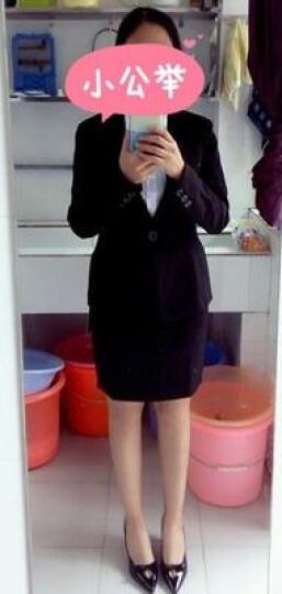 职业装女装套装正装女小西装外套韩版修身秋季长袖工作服酒店工装面试小西服 藏青色西装+裤子 XXL 晒单图