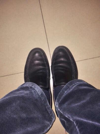 圣大保罗皮鞋男士商务休闲鞋头层牛皮套脚软底爸爸鞋 棕色 40皮鞋 偏大一码 晒单图