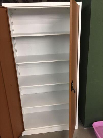金经金属 文件柜铁皮柜办公柜档案柜资料柜咖啡色带锁凭证柜财务柜 玻开门矮柜760高 咖啡色 晒单图