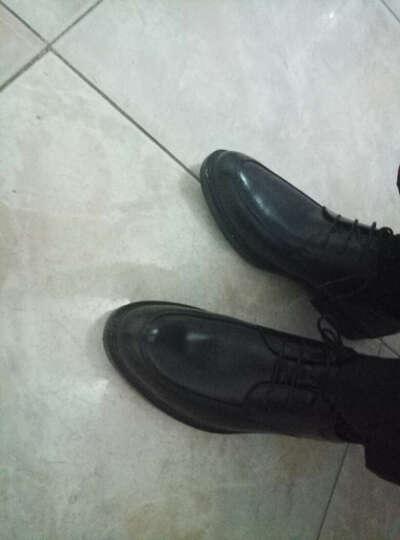 奥康男鞋新款皮鞋秋季青年工作结婚商务休闲鞋男系带头层牛皮舒适正装鞋镂空透气凉鞋男 单鞋 黑色 353118031 39 晒单图