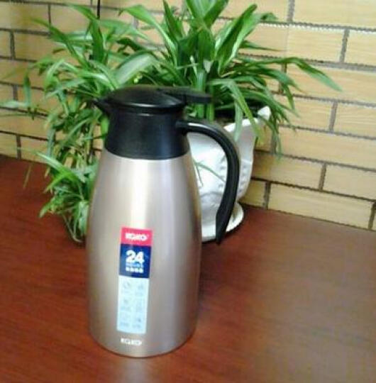 咔咔保温壶家用暖壶水壶热水瓶暖瓶2L开水瓶保温瓶大容量不锈钢保暖壶欧式家用热水壶保温咖啡杯壶 浪漫紫 晒单图
