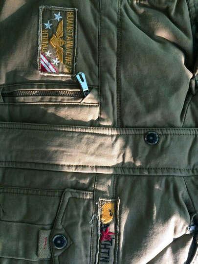 优博瑞 男士棉衣男冬装中长款棉服加绒加厚大码棉袄军装棉大衣外套潮 纯正黑色 XL 晒单图
