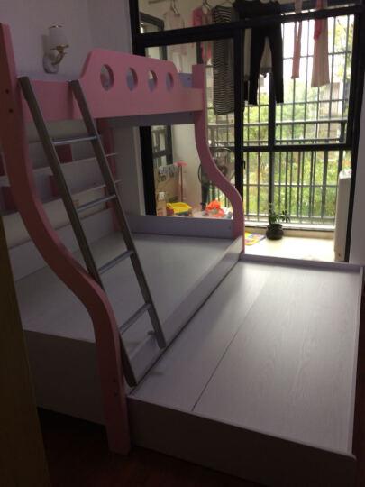 卡奴米 儿童床男孩上下床双层床子母床高低床 公主床女孩 卧室家具单人床856# 粉红色 1.2米上下床+挂梯 晒单图