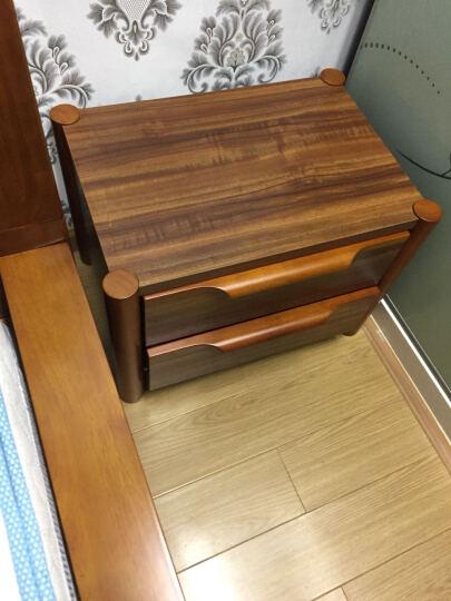 LAGO 实木床头柜 中式储物柜收纳柜子 现代卧室家具床边柜9B05 床头柜 晒单图