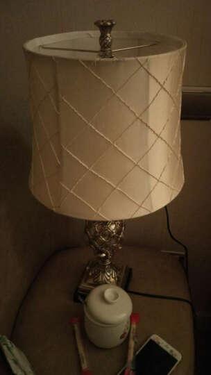 络曼(LUOMAN) 欧式落地灯美式落地灯客厅落地灯卧室落地台灯欧式床头书房 EA2035方格灯罩 晒单图