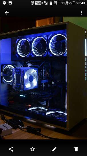 乔思伯(JONSBO)FR-101P-炫光白 12CM机箱风扇(引擎涡轮扇叶/白色LED/PWM温控/散热器风扇/主板4PIN接口) 晒单图