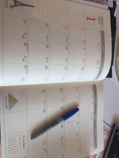 SEASON台湾四季紙品2017年13K跨年月志 行程规划˙学年˙年度行事历 日程本带农历 SS1603-01相机 晒单图