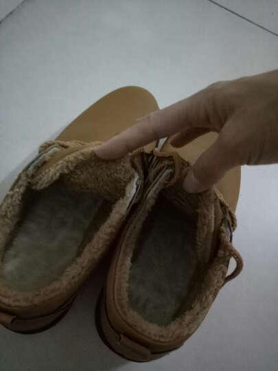 卢卡士 休闲鞋男鞋 男士大头皮鞋男 英伦厚底户外工装鞋学生板鞋 棉鞋Lxd032 黄棕色加绒 41 晒单图