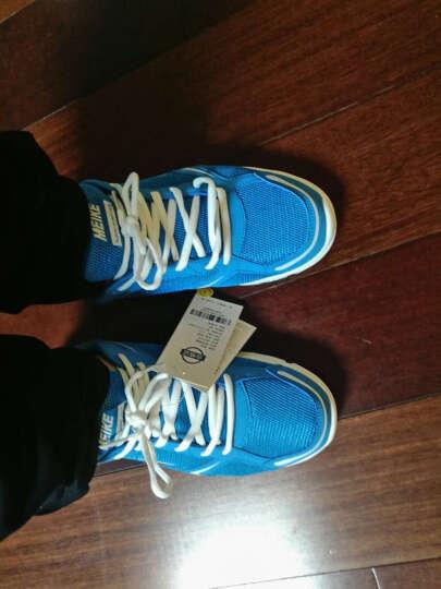 美克秋季新款正品男鞋轻便透气时尚跑步鞋防滑耐磨男士运动鞋跑鞋B861918 天蓝/白色 42 晒单图
