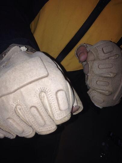 翔游户外黑鹰战术手套户外手套 防滑军迷防割登山格斗运动健身手套军迷用品 黑色半指款(防护壳) XL 晒单图