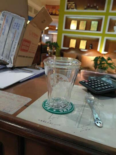 玻璃杯  双层水杯 透明 隔热  果汁杯奶茶杯 牛奶杯 过滤耐热水杯 叮当学习款260毫升 晒单图