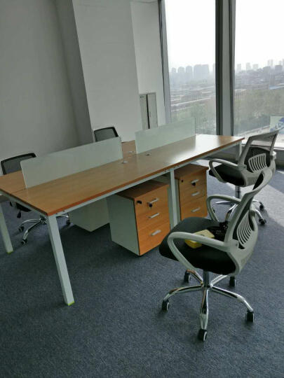 丞懿(chengyi)办公家具办公椅职员椅电脑椅员工椅会议椅网布转椅接待椅 果绿色 晒单图