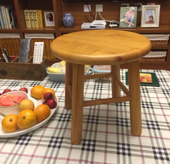 朴易木桶-实木凳-浴室配件-家庭用凳子- 实木凳 橡木圆凳 晒单图