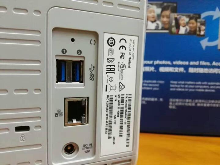 西部数据(Western Digital)  Elements 新元素 3.5英寸 桌面式移动硬盘 浅灰色 西数红盘 16TB(8TB*2) 晒单图