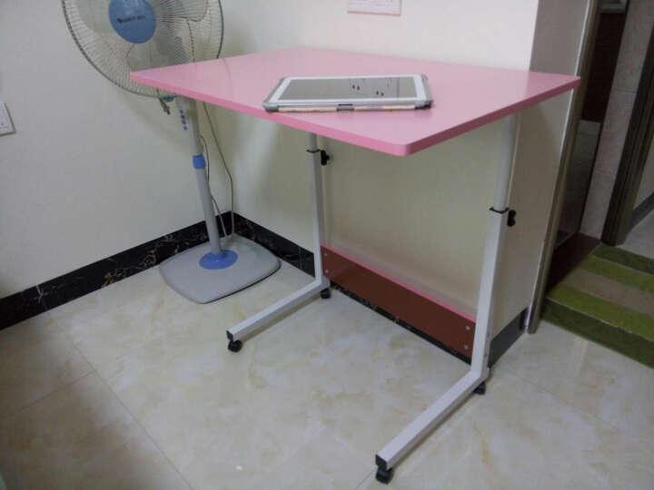 乐佳宜 简易笔记本电脑桌 床边桌 可移动 小型书桌简约现代升降茶几桌子 雅致花纹 80X50cm 晒单图