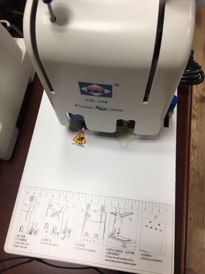 爱宝(Aibao) CD-310 财务装订机 财务凭证 票据打孔 档案会计打孔 热熔铆管 晒单图