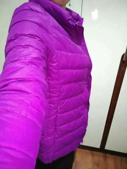 omlesa轻薄羽绒服女短款立领修身韩版新款秋冬装外套正品女装羽绒衣 湖蓝色 XXXL(130-150斤) 晒单图
