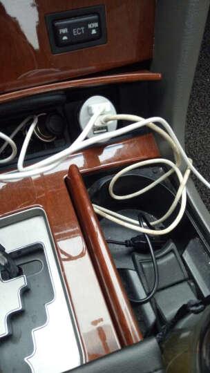 品胜 USB车充 三USB车载充电器车充 汽车点烟器一拖三插头插座转接口3USB手机车充 白色 晒单图