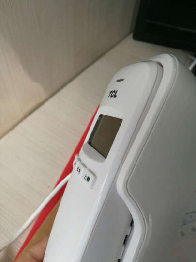 TCL HA868(8A)固定有绳电话机座机小挂机电梯卫生间厨房一键拨号座式壁挂酒店家用有绳固定座机(白色) 晒单图