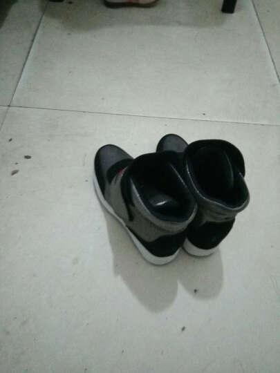柏纳戈内增高女鞋休闲鞋真皮坡跟厚底白鞋高帮棉鞋雪地靴子女 白色加绒 37 晒单图